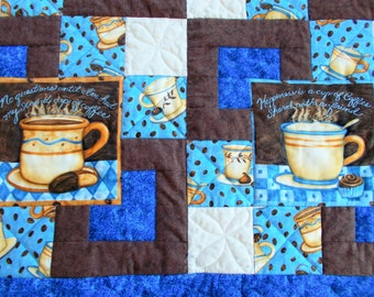 Cup of Coffee Quilted Table Runner