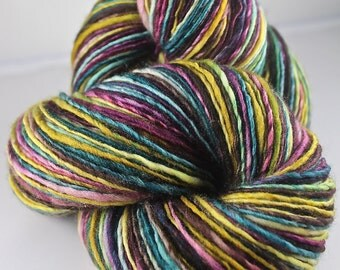 Handspun Yarn Gently Thick and Thin DK Single Superwash Merino 'Wishbox'