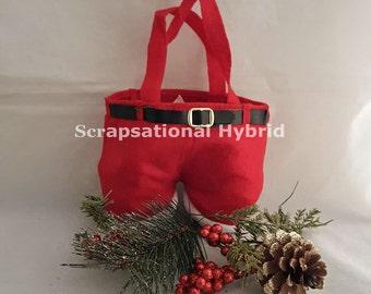Santa Pants Gift Bag, Santa Claus, Christmas, Gift Giving