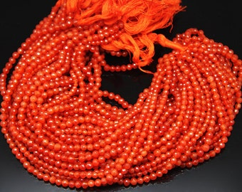 1strand - natural carnelian faceted ball