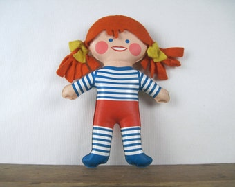1971 Love 'n Learn Dress Up Vinyl Doll - SAILOR CHIC - vintage REMCO toy, made in Hong Kong - mod, flatsy, retro, snaps + laces