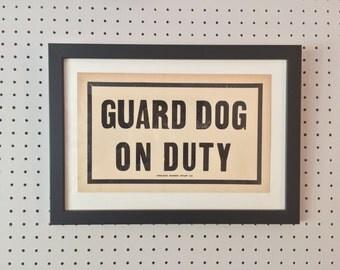 Vintage Sign - GUARD DOG