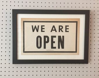 Vintage Sign - WE ARE OPEN