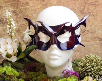 Purple Pixie Leather Mask