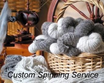 Custom Handspinning Service  4 oz. Skein