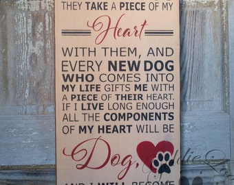 It Came To Me 2, Primitive Wood Wall Sign, Dog, Word Art, Typography
