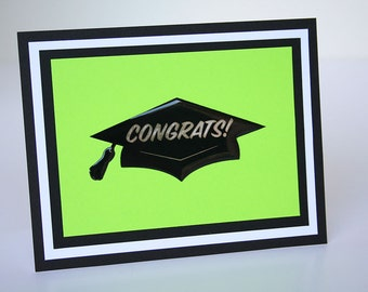 Graduation Card - Mortarboard w/ Congrats!