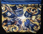 Exploding Blue Boxes Drawstring Project Bag