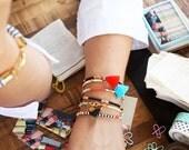 Beaded Friendship Bracelet with Tassel, Stackable Bracelets, Gift for Her