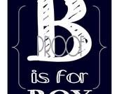 Custom Listing for DLR - B is for BOY - Navy