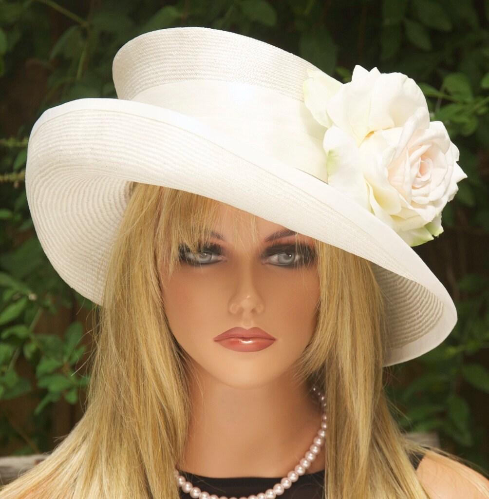 Wedding Hat Kentucky Derby Church Cream Ivory