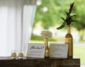 Signature Drink / Funny Quote Bar Signs - Custom Wedding Signs - Easel-Backed to stand on their own
