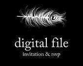 Peacock Printing Digital File - choose your own design
