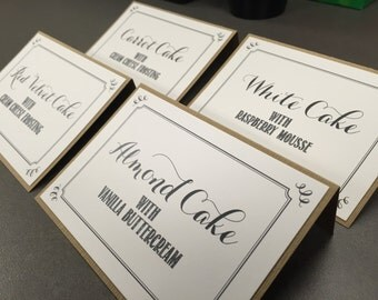 Custom Wedding Signage - Cake flavors, Cards, Bathroom, Donation cards, etc