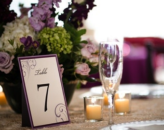 Custom Table Numbers - Easel-Backed to stand on their own