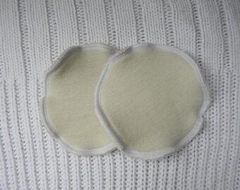 Nursing Pads Absorbent Breastfeeding Pads One Pair Three Layers Organic Merino Wool Interlock /Upcycled Wool /Bamboo Velour