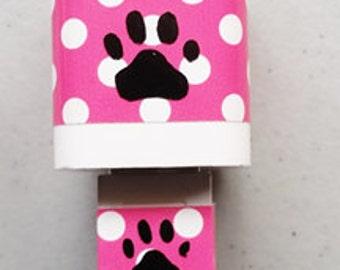USB iPhone Cord/Charger Decal Set - iPhone plug Wrap & USB Cord Set - Vinyl Decals - Paw Print - Matching Vinyl