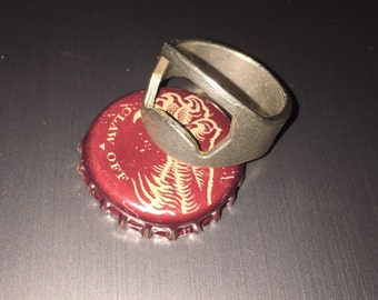 Bottle Opener Ring, large sizes, men's jewelry, fathers day gift