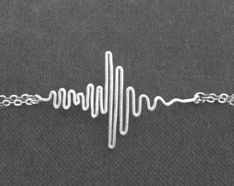 Sound Wave Bracelet - Personalized Soundwave Bracelet, Soundwave Jewelry