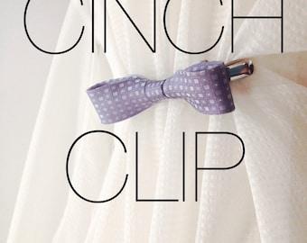 Silk Bow Cinch Clip