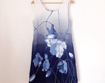 SALE VINTAGE Floral Tank Dress