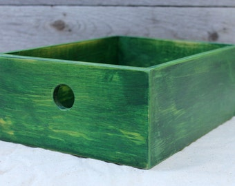 Desktop Storage Box in Weathered Green