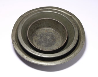 Vintage Pie/Tart Tins - Circa Early 20th Century