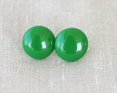Green earring studs  green earrings stud earrings for women green ear studs green post everyday jewelry minimalist earrings cabochon earring
