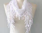 White lace scarf belly dance hip scarf lace shawl lace headband lace wrap fashion scarves for women bridal accessories boho wedding