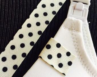 Mammary Minders Nursing Reminder in twill polka dot pattern (A5)