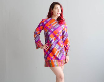 60s Mini Dress - Vintage 1960s MOD Dress - Like Real Life Dress