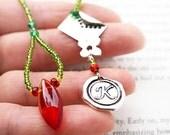 Personalized Bookmark, Initial Bookmark, Beaded Bookmark, Love Letter Bookmark, Garden Inspired, Gift for Gardener, Reader Gift for her