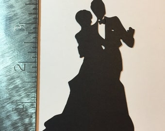 Bride and Groom silhouette die cut