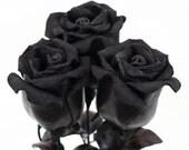 Black leather rose bouquet third Anniversary wedding gift Long Stem leather Flower Valentine's Day 3rd Leather Anniversary Mother's Day