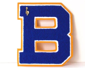 Vintage Varsity Letter with Music Pin