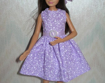 """Handmade 10.5"""" teen sister fashion doll clothes - Your choice - choose 1 - purple, pink, green, blue or peach dress and hat"""