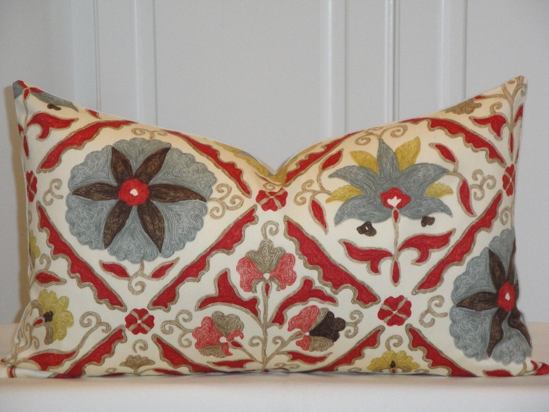 SET OF TWO Decorative Pillow Cover Fit 12 x 20 Insert