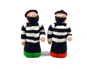 Two Catan Robbers for Settlers of Catan Board Game