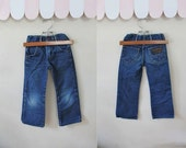 vintage 1970s toddler's jeans - WRANGLER faded denim pants / 5T