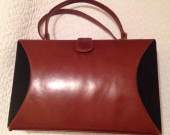 Vintage Leather Palazio Box Purse