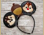 Chipmunk Mouse Ears Headband - CUSTOM - Twincess Bowtique