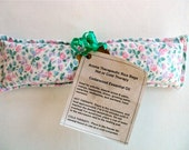 """Cedarwood  Essential Oil Aroma Therapeutic Rice Pad - Hot or Cold Therapy - 3"""" wide x 9-3/4"""" long - Pink Floral Flannel"""