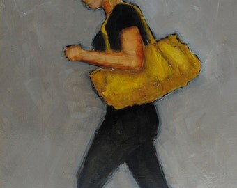 Original Oil Painting - A Bag of Gold - Colette Davis - ABSTRACT FIGURE PORTRAIT
