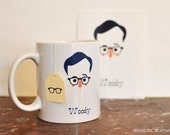 Mug Woody Allen, design Eudeline Moutarde