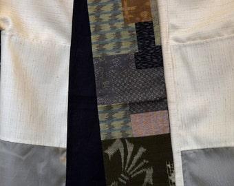 KiMonoMono cotton/linen scarf greens