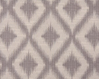 Ikat Fret Woven Pewter gray decorative pillow cover