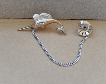Sailfish Tie Tack, Vintage Tie Tack, Swank, Men's Accessories, Gift for Him