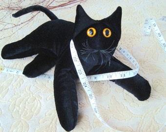Black Velvet Cat, plush collectible cat stuffed cat