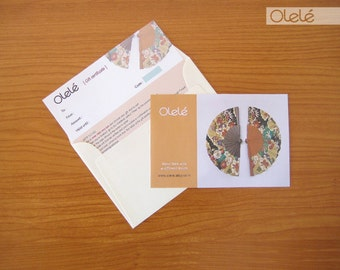 Cardboard Gift certificate - Olele Gift Card - Choose the amount - Printed card with envelope sent via registered mail