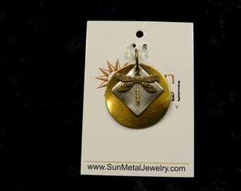I love gold dragonflies pendant (Style #1344)
